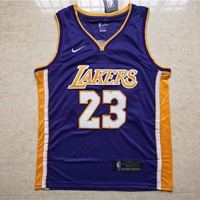 LA Lakers #23 LeBron James Purple Basketball Jersey