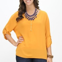 Saturday Afternoon Blouse, Mustard