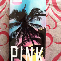 New Victoria's Secret PINK Tropical PALM TREE  print iPhone 4 hard cover case