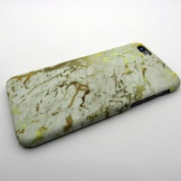Gold Marble Stone iPhone 5se 5s 6 6s Plus Case Cover + Nice Gift Box 276