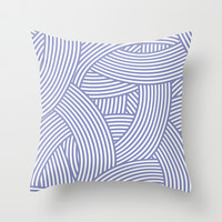New Weave in Lilac Purple Throw Pillow by House of Jennifer