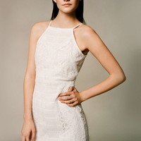 Strappy Lace Bodycon Dress - Topshop