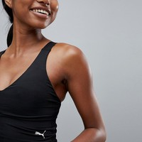 Puma Dance Crop Top With Back Detailling In Black at asos.com