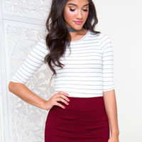 One Dance Skirt - Burgundy