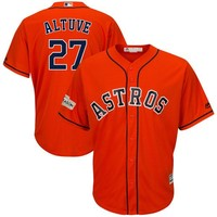 Men's Houston Astros Jose Altuve Majestic Orange 2017 Postseason Cool Base Player Jersey