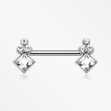 A Pair of Bali Sparkle Nipple Barbell