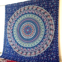 QUEEN mandala tapestry hippie wall hanging hippy bohemian boho bedding throw indian bedspread ethnic mandala wall decor art