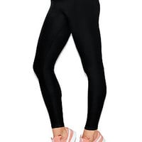 Flat Waist Cotton Yoga Leggings - PINK - Victoria's Secret