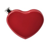 Heart-Shaped Hip Flask in Red