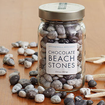 Chocolate Beach Stones | Novelty Confections | Stonewall Kitchen - Specialty Foods, Gifts, Gift Baskets, Kitchenware and Kitchen Accessories, Tableware, Home and Garden Décor and Accessories