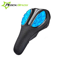 ROCKBROS Bicycle Saddle Covers Mesh Lycra MTB Road Bike Saddle Cushion Cover Liquid Gels Soft Cycling Fixed Gear Seat Mat Parts