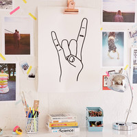 Cult Paper Rock On Art Print   Urban Outfitters