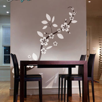 Vinyl Wall Decal Sticker Asian Blossom Flower #285