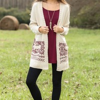 Snuggle Down Cardigan-Cream