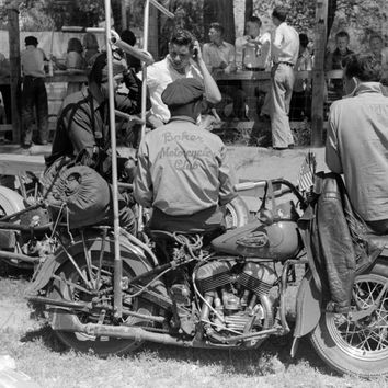 Motorcycle Racers 1941 Reproduction Photograph 8x10 inch