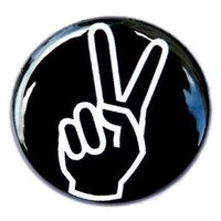 Peace Hand Button Pin by theangryrobot on Etsy
