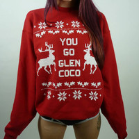 You Go Glen Coco Ugly Christmas Sweater Hoodies [9343886404]