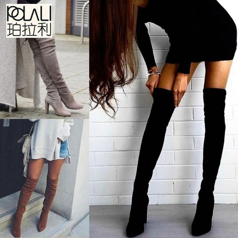 Image of Women Shoes Boots Over the Knee Boots Sexy Autumn Winter lady Thigh High Boots