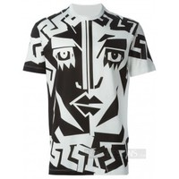 """Indie Designs Versace Inspired Graphic """"Face Le New"""" Tshirt"""