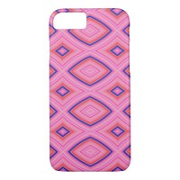Pretty Geometric in Mostly Pink iPhone 7 Case