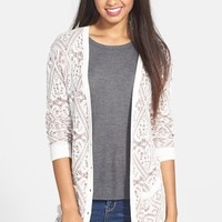 Frenchi Lace Pattern Long Cardigan (Juniors)