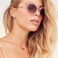 Slim Round Half-Frame Sunglasses | Urban Outfitters