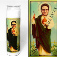 Saint Seth Rogen Prayer Candle - Freaks and Geeks - Religious Humour - Kitsch - Christmas Gag Gift - Stoner