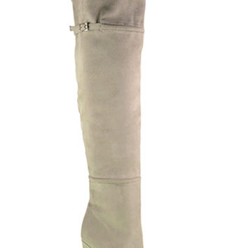 Chinese Laundry Center Stage Over The Knee Boot - Grey