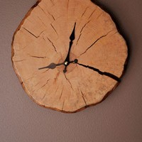 Wooden Clock by blackgizmo on Etsy