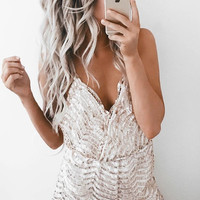 Brilliant Sequined Romper - FINAL SALE