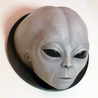 Alien Grey Wall Plaque Sculpture