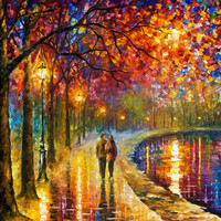Spirits By The Lake - oil painting by Leonid Afremov