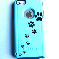 OTTERBOX iphone 5c case, case cover iphone 5c otterbox ,iphone 5c otterbox case,otterbox iPhone 5c, otterbox, paw print otterbox case