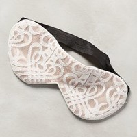 Laced Sleep Mask by PS by Perpetual Shade Ivory One Size Lounge