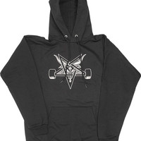 Thrasher Blackout Hoodie/Sweater Medium Black/White