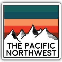 The PNW Mountains Sticker