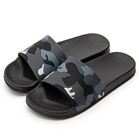 Men Slippers Camo Home Slides Casual Style Sandals