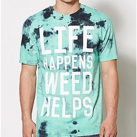 Life Happens Weed Helps Tie Dye T Shirt - Spencer's