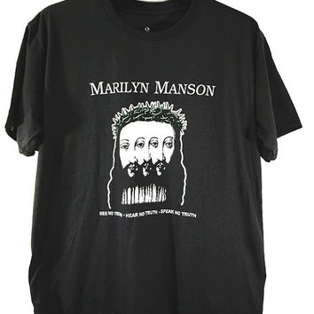 Marilyn Manson, see no truth, hear no truth,speak no truth, t-shirt