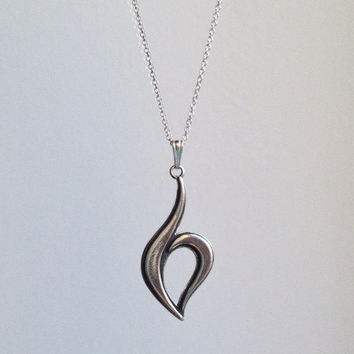 """Eating Disorder Recovery  Necklace with 1.5"""" pendant"""