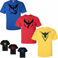 Pokemon Go Team T Valor Mystic Instinct Tshirts