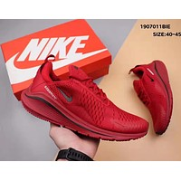 NIKE Air Zoom 270 Vapormax Flyknit Fashion Men Breathable Running Sport Shoes Sneakers Red