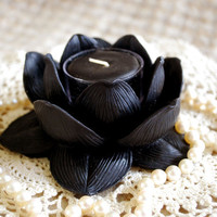 Pure Beeswax Lotus Flower Candle Holder in by peaceblossomcandles