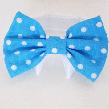 Dog Bow Tie : New Colors Turquoise Polka Dot Watermelon and Tango Tangerine Holiday Wedding Pet Photo Prop