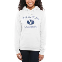 BYU Cougars Women's Fade To Victory Pullover Hoodie – White