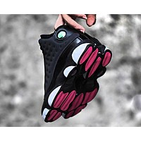 Air Jordan 13 AJ13 Fashion New Women Men Running Sports Leisure Shoes Black