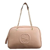 Perfect Gucci Women Fashion Leather Satchel Bag Shoulder Bag Handbag