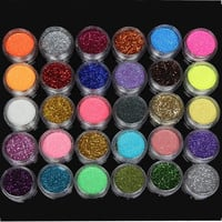 30 Colors 1 Set Glitter Spangle Eye Shadow Powder Pigment Makeup Tool