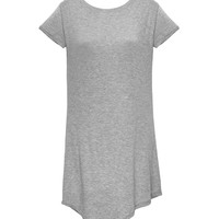 She T-Shirt Dress Grey