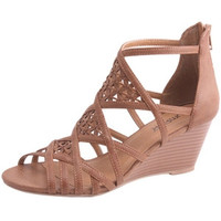 VANNA12-Women LOW WEDGE SANDALS